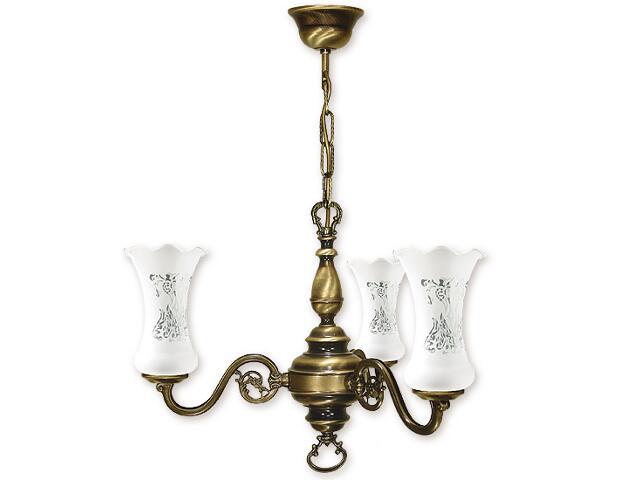 Lampa wisząca Retro Plus 3-płomienna patyna 423/W3 Lemir