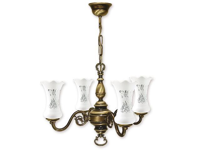 Lampa wisząca Retro Plus 4-płomienna patyna 424/W4 Lemir