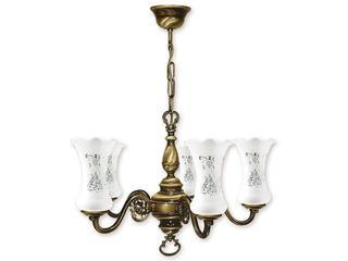 Lampa wisząca Retro Plus 5-płomienna patyna 425/W5 Lemir