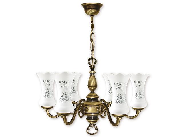 Lampa wisząca Retro Plus 6-płomienna patyna 426/W6 Lemir