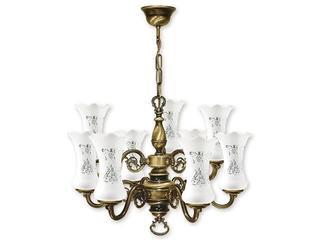 Lampa wisząca Retro Plus 9-płomienna patyna 427/W9 Lemir