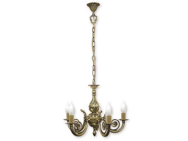 Lampa wisząca Kronos 5-płomienna patyna 445/W5 Lemir