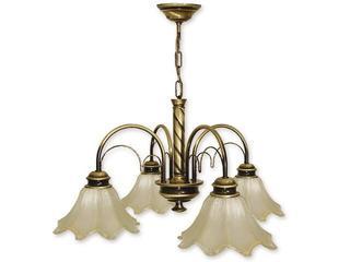 Lampa wisząca Omega 4-płomienna patyna 534/W4 Lemir