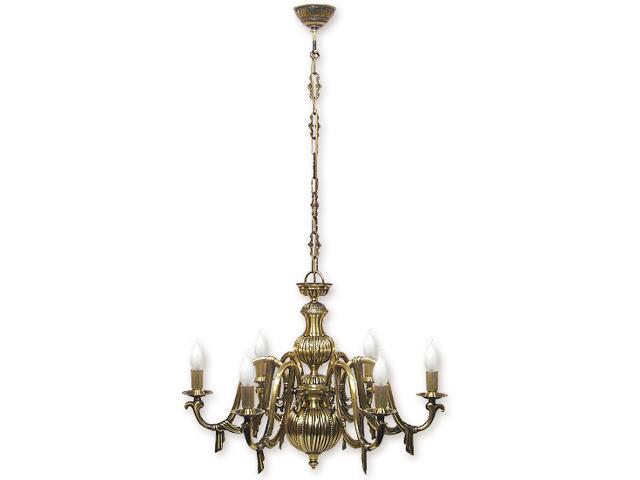 Lampa wisząca Avilla 6-płomienna patyna 596/W6 Lemir