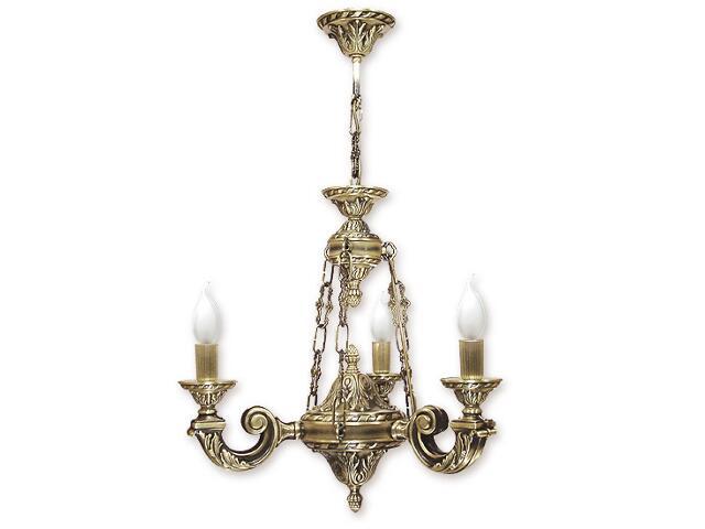 Lampa wisząca Vega 3-płomienna patyna 604/W3 Lemir