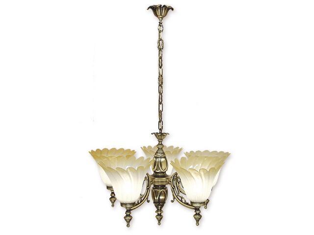 Lampa wisząca Ikar 5-płomienna patyna 625/W5 Lemir