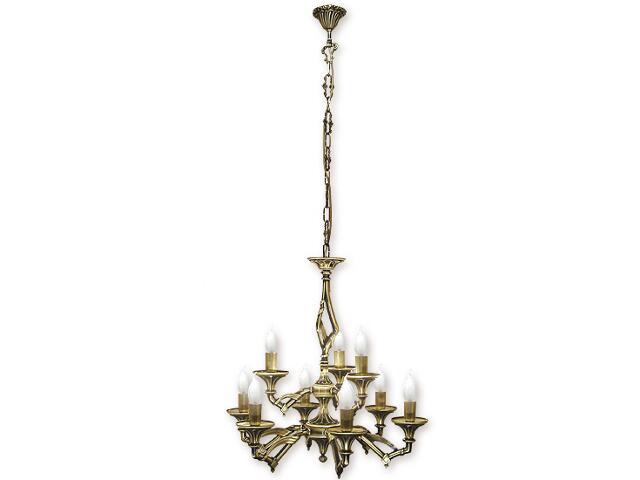 Lampa wisząca Vigo 9-płomienna patyna 637/W9 Lemir