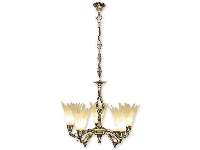 Lampa wisząca Valor 5-płomienna patyna 645/W5 Lemir