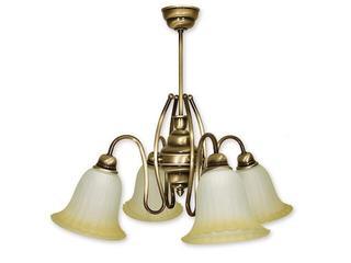 Lampa wisząca Cyprys 4-płomienna patyna 724/W4 Lemir