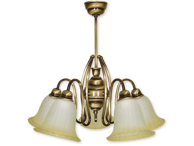 Lampa wisząca Cyprys 5-płomienna patyna 725/W5 Lemir