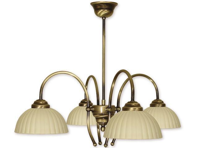 Lampa wisząca Pola 4-płomienna patyna 834/W4 PAT Lemir