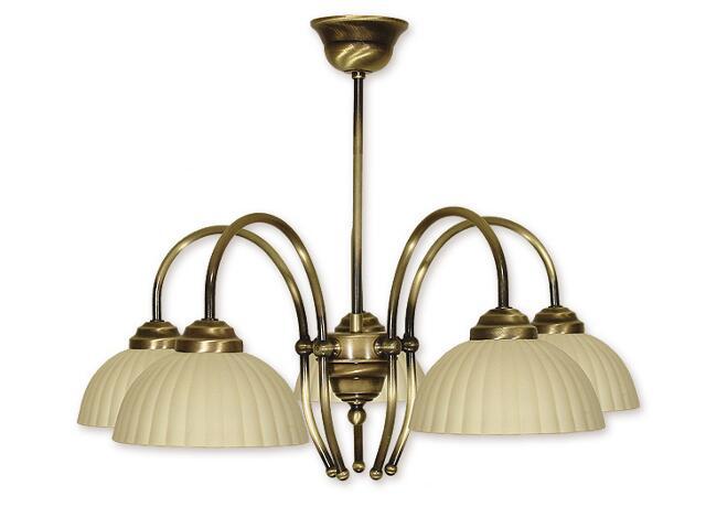 Lampa wisząca Pola 5-płomienna patyna 835/W5 PAT Lemir