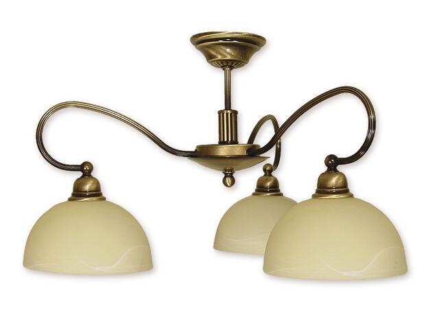 Lampa wisząca Arkos 3-płomienna patyna 863/W3 Lemir