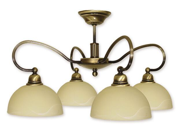 Lampa wisząca Arkos 4-płomienna patyna 864/W4 Lemir