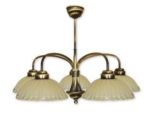 Lampa wisząca Alba 5-płomienna patyna 965/W5 Lemir