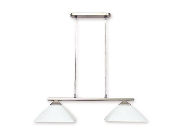 Lampa wisząca Krzyżak 2-płomienna satyna 972LP/W2 SAT Lemir