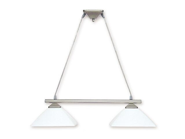 Lampa wisząca Krzyżak 2-płomienna satyna 972LS/W2 SAT Lemir