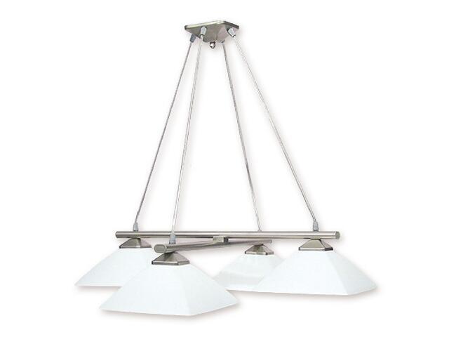 Lampa wisząca Krzyżak 4-płomienna satyna 974LS/W4 SAT Lemir