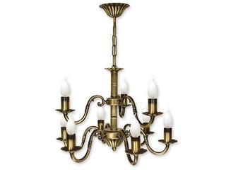 Lampa wisząca Prima 9-płomienna patyna O1007/W9 Lemir