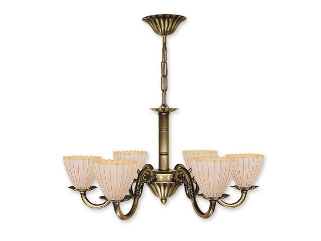Lampa wisząca Prima Plus 6-płomienna patyna O1016/W6 Lemir