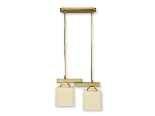 Lampa wisząca Kostka 2-płomienna złota O1062/W2 ZŁ Lemir