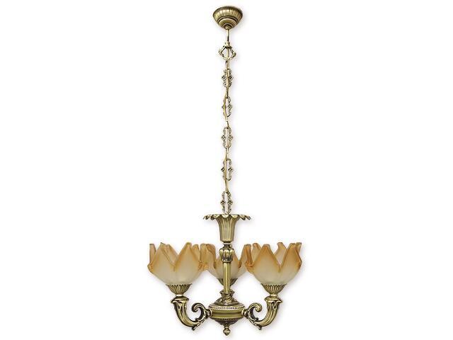 Lampa wisząca Pegaz 3-płomienna patyna 673/W3 Lemir