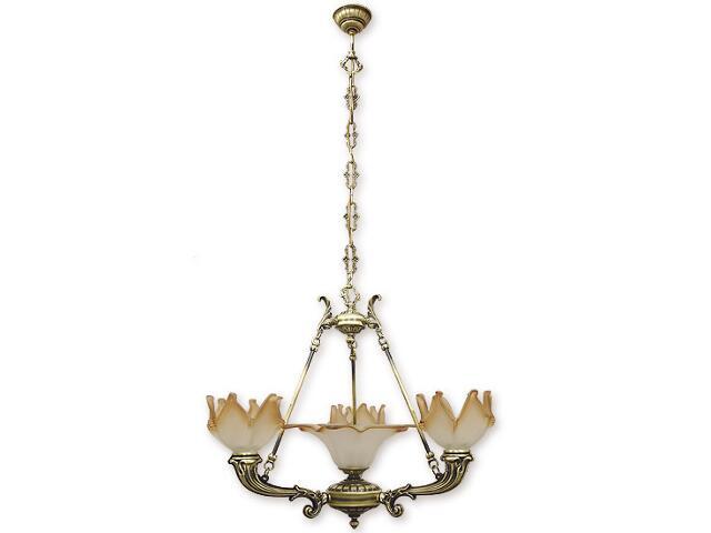 Lampa wisząca Pegaz 4-płomienna patyna 674/W4 Lemir
