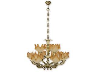 Lampa wisząca Pegaz 9-płomienna patyna 677/W9 Lemir