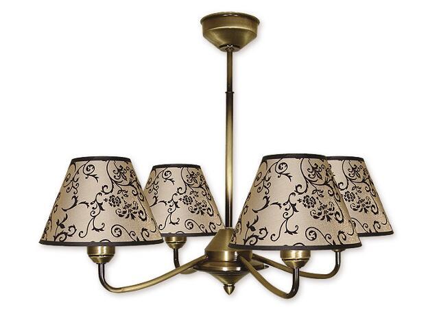 Lampa wisząca Aluna 4-płomienna patyna 854/W4 Lemir