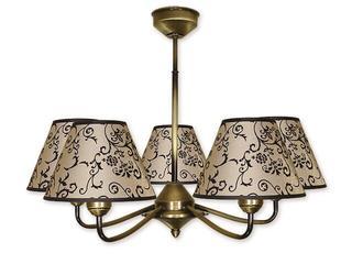 Lampa wisząca Aluna 5-płomienna patyna 855/W5 Lemir