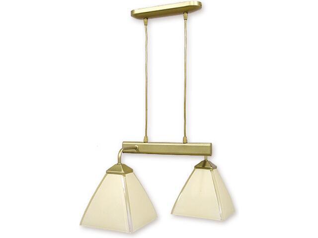 Lampa wisząca Piksel listwa 2-płomienna złota 882/W2 ZŁ Lemir