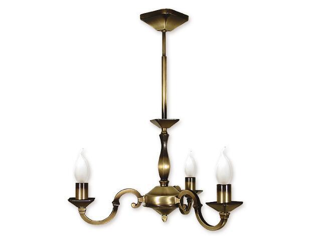 Lampa wisząca Kade 3-płomienna patyna O1023/W3 Lemir