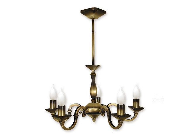 Lampa wisząca Kade 5-płomienna patyna O1025/W5 Lemir