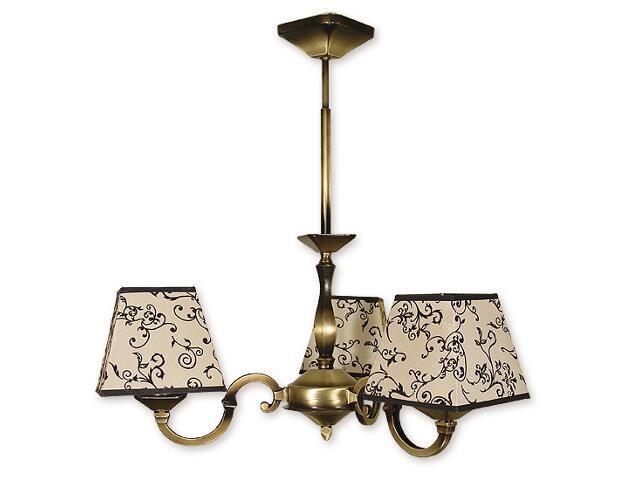 Lampa wisząca Kade Abażur 3-płomienna patyna O1043/W3 Lemir