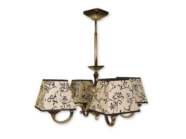 Lampa wisząca Kade Abażur 4-płomienna patyna O1044/W4 Lemir