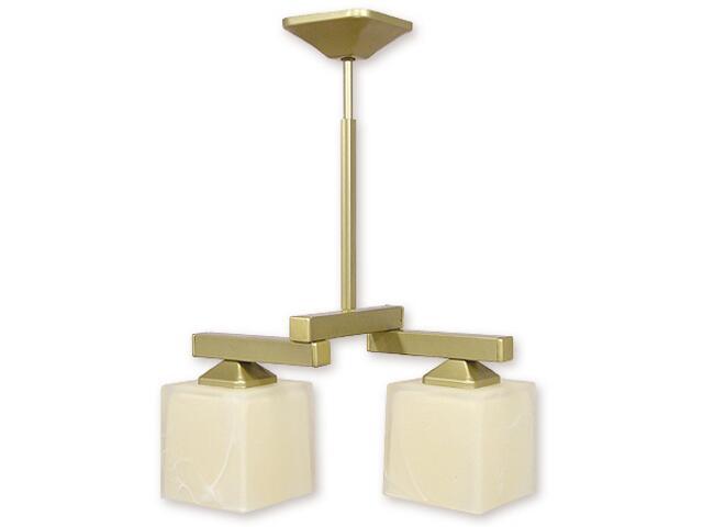 Lampa wisząca Kleo listwa 2-płomienna złota O1082RZ/W2 ZŁ Lemir