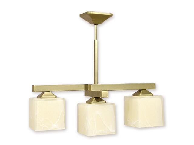 Lampa wisząca Kleo listwa 3-płomienna złota O1083RH/W3 ZŁ Lemir