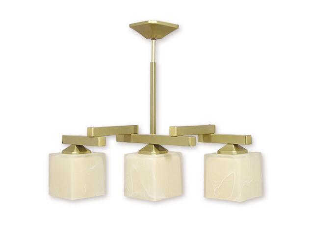 Lampa wisząca Kleo listwa 3-płomienna złota O1083RZ/W3 ZŁ Lemir