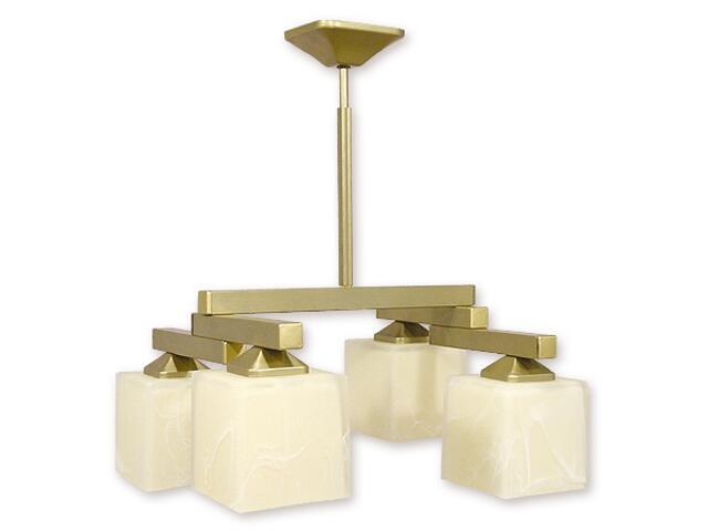 Lampa wisząca Kleo listwa 4-płomienna złota O1084RH/W4 ZŁ Lemir