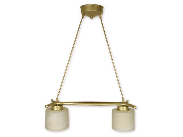Lampa wisząca Kwazar listwa 2-płomienna złota O1102/W2 ZŁ Lemir