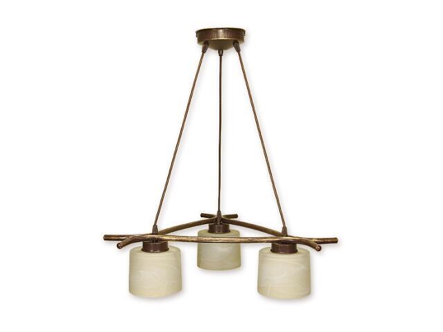 Lampa wisząca Kwazar listwa 3-płomienna brązowa O1103/W3 BR Lemir