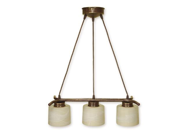 Lampa wisząca Kwazar listwa linia 3-płomienna brązowa O1103L/W3 BR Lemir