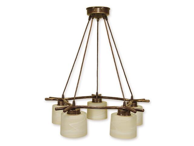 Lampa wisząca Kwazar listwa 5-płomienna brązowa O1105/W5 BR Lemir