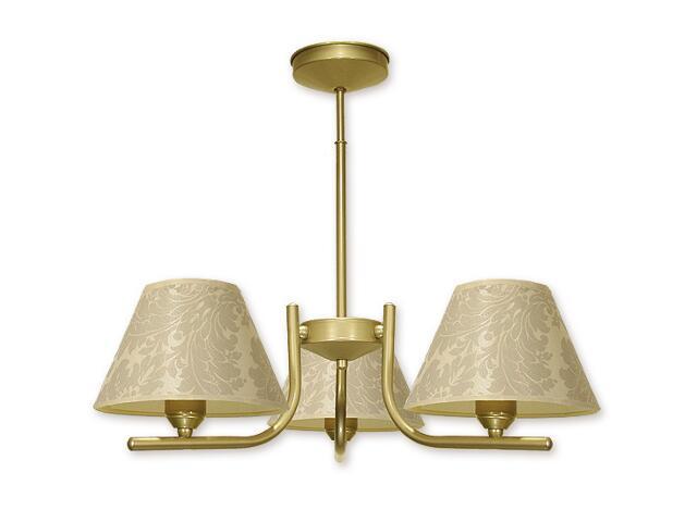 Lampa wisząca Rewers 3-płomienna złota O1123/W3 ZŁ Lemir