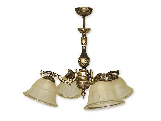 Lampa wisząca Arago 4-płomienna patyna O1144/W4 Lemir
