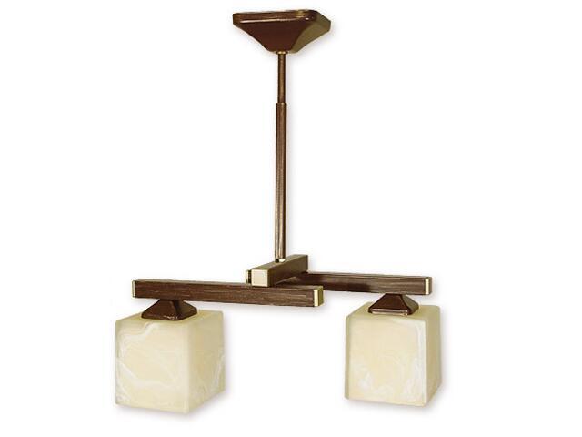 Lampa wisząca Kleo listwa 2-płomienna brązowa O1082RH/W2 BR Lemir