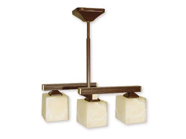 Lampa wisząca Kleo listwa 3-płomienna brązowa O1083RH/W3 BR Lemir