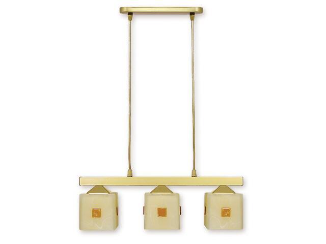 Lampa wisząca Morfeusz listwa 3-płomienna złota O1183/W3 ZŁ Lemir