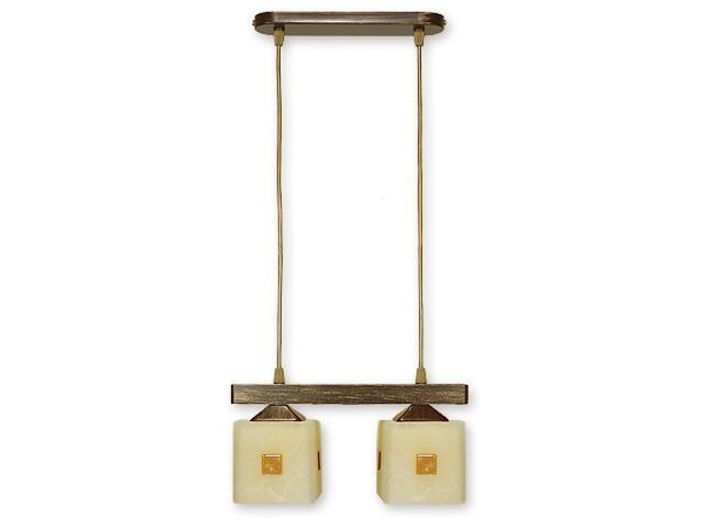 Lampa wisząca Morfeusz listwa 2-płomienna brązowa O1182/W2 BR Lemir