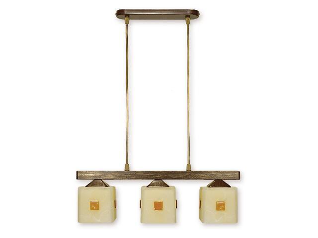 Lampa wisząca Morfeusz listwa 3-płomienna brązowa O1183/W3 BR Lemir